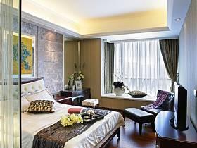 简欧卧室窗帘设计案例展示