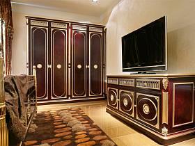 欧式卧室衣柜电视背景墙设计案例