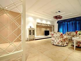 田園田園風格客廳沙發茶幾設計方案