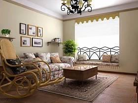 地中海地中海風格客廳吊頂設計方案