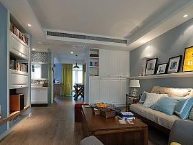 田园韩式田园风格客厅背景墙沙发客厅沙发设计案例
