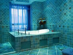 混搭浴室淋浴房效果圖