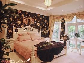 法式卧室别墅吊顶窗帘装修效果展示