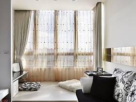 簡約一居室吊頂窗簾榻榻米設計案例