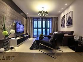 现代现代风格客厅电视背景墙电视墙