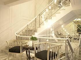 简欧北欧简欧风格休闲区楼梯图片