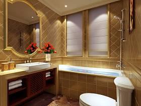 歐式別墅浴室淋浴房案例展示