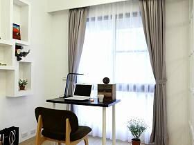 現代簡約書房收納設計案例展示