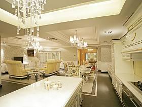 歐式客廳餐廳廚房沙發設計案例展示
