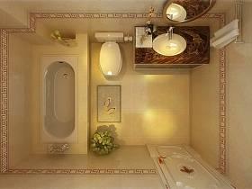 田园浴室淋浴房装修效果展示