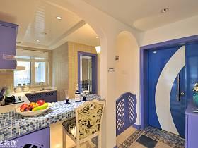 地中海地中海風格玄關玄關柜設計案例