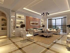 歐式客廳沙發茶幾設計案例展示