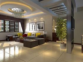 現代客廳沙發茶幾案例展示