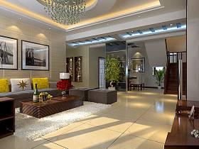 現代客廳沙發茶幾設計圖
