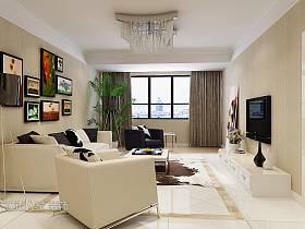 韩式客厅吊顶电视背景墙图片