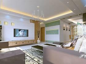 现代客厅背景墙电视背景墙装修效果展示