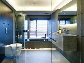 現代簡約衛生間浴室淋浴房裝修效果展示