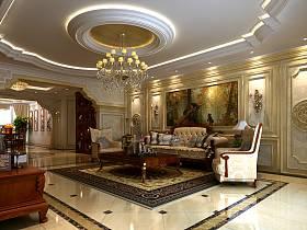 歐式客廳吊頂背景墻沙發效果圖