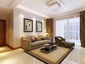 現代簡約客廳吊頂設計方案