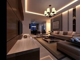 現代簡約客廳沙發茶幾圖片