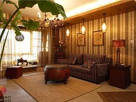 混搭客廳沙發茶幾設計方案