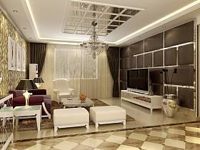 簡歐簡歐風格客廳設計圖