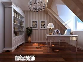 簡歐簡歐風格書房裝修案例