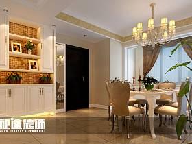 简欧简欧风格餐厅三居设计案例