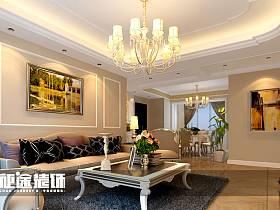 簡歐簡歐風格客廳三居設計案例展示
