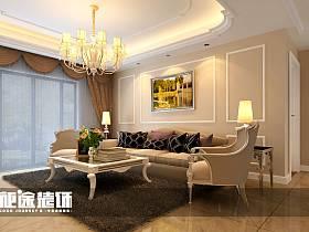 简欧简欧风格客厅三居设计案例展示
