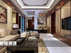中式中式风格客厅三居设计图