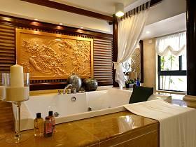 中式卫生间浴室效果图