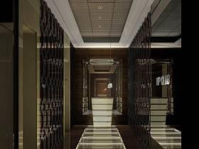 现代简约走廊效果图
