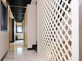 现代简约中式混搭走廊设计案例