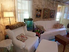 田园自然背景墙沙发木质沙发案例展示