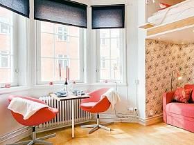 浪漫客廳陽臺吧臺茶幾椅設計案例展示
