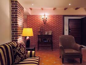 自然复古玄关玄关柜设计案例展示