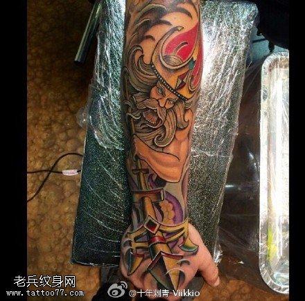 彩绘海贼王纹身图案
