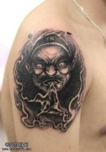 霸氣的鐘馗紋身圖案