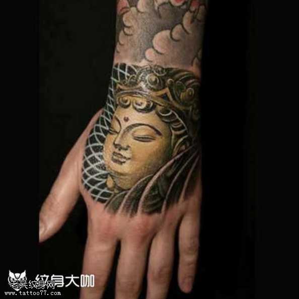 手部佛祖纹身图案