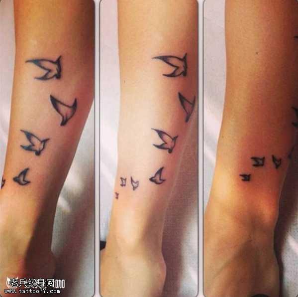 鸽子图腾纹身图案