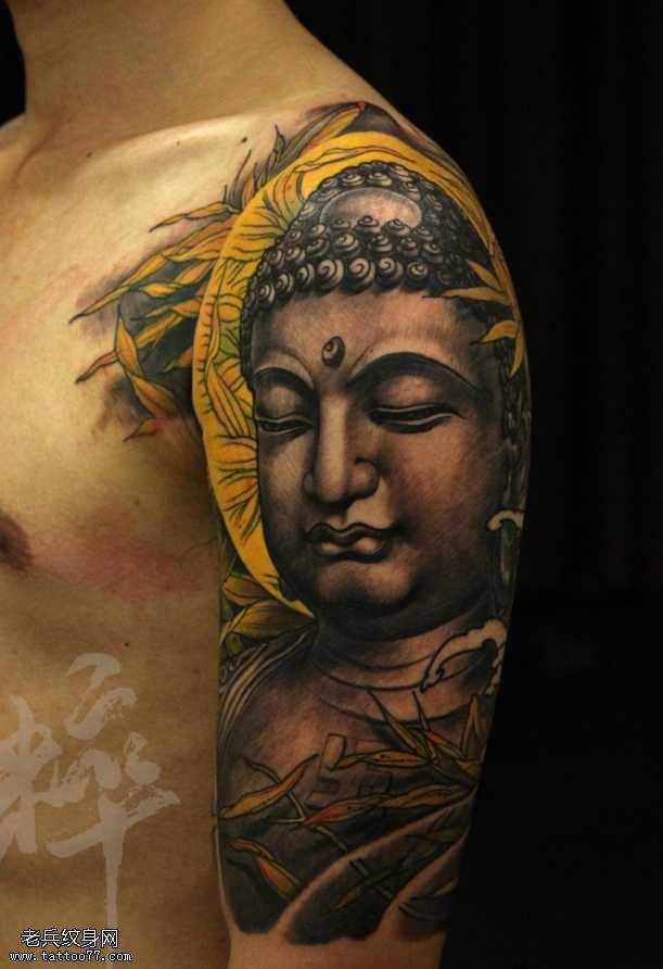 胳膊佛祖纹身图案