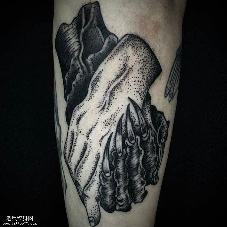 小臂手纹身图案