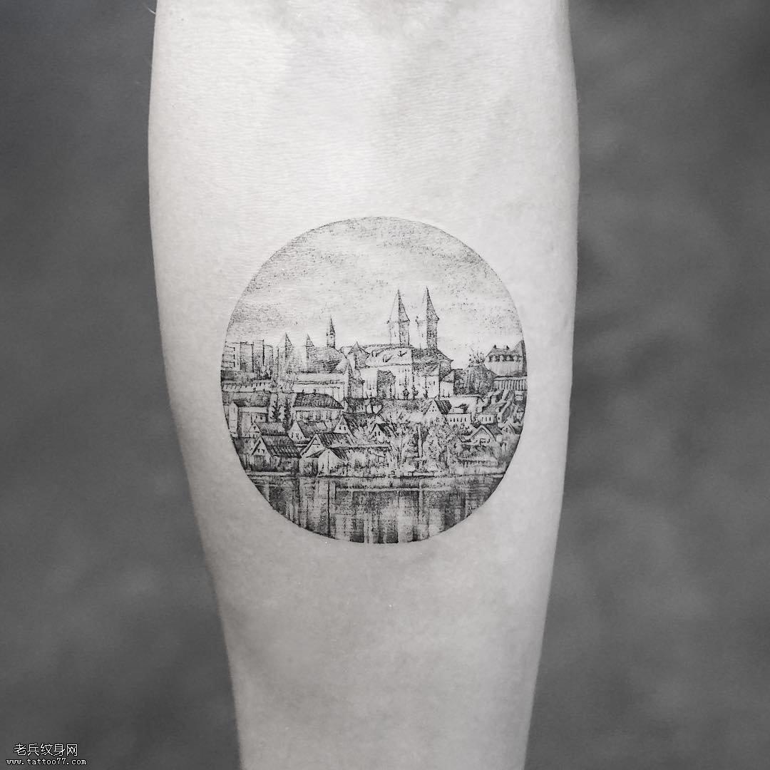 小臂风景纹身图案