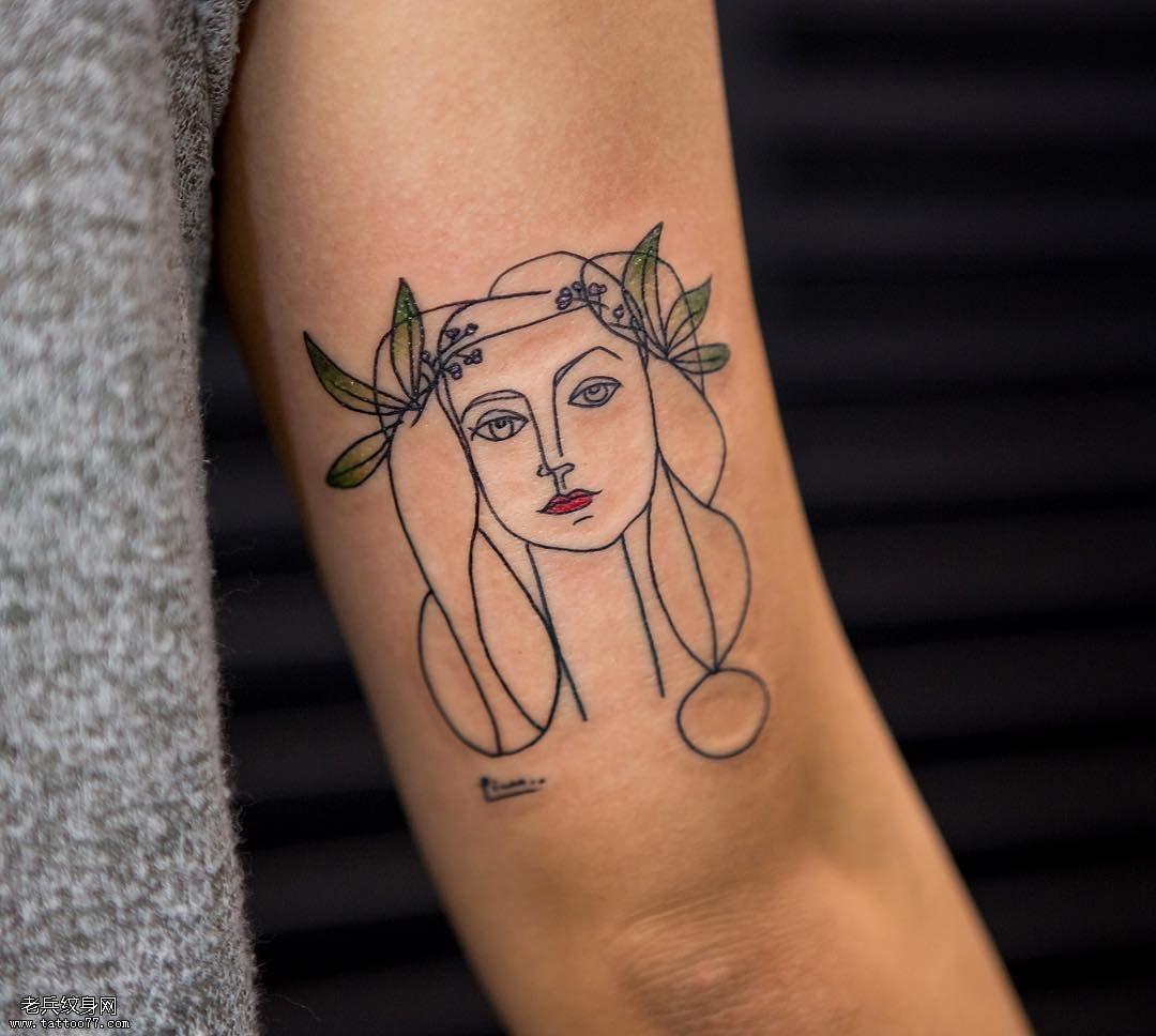 抽象人物纹身图案