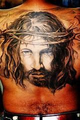 背部耶稣画像平安彩票开奖网纹身图案