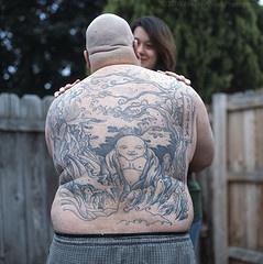 背部如来佛祖纹身图案