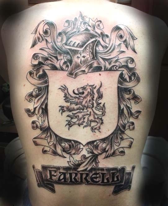 可爱的法瑞尔家庭徽章纹身图案