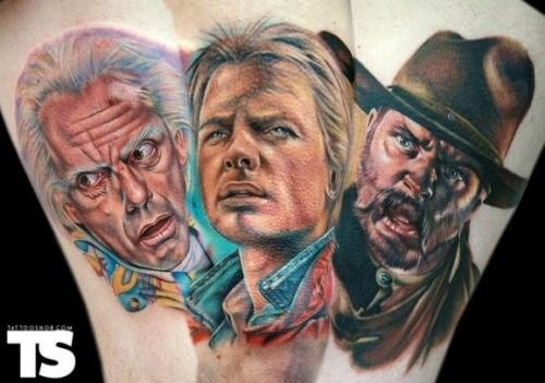 各种各样的老电影英雄肖像纹身图案