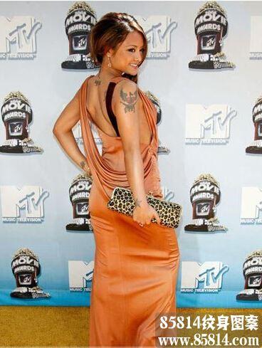 漂亮魅力迷人美女明星纹身图案